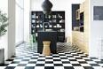 Klassisk gulv med tern