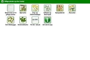 App viser giftige planter