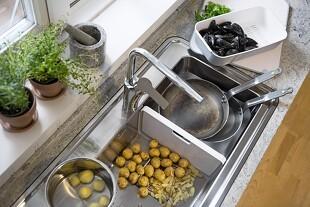 Fleksibel køkkenvask