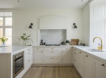Klassisk køkken med kant