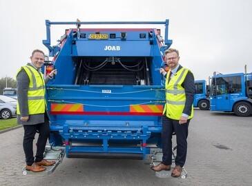 Skraldebiler i Esbjerg kører nu på biogas