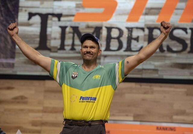 Australier tog overraskende guld ved VM i  TimbersportS