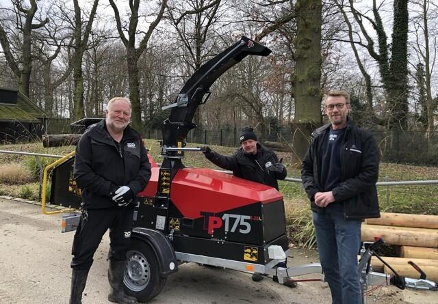 Linddanas første batteridrevne flishugger går til Københavns Zoo