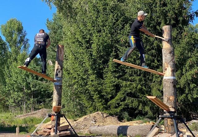 Årets første internationale Timbersports