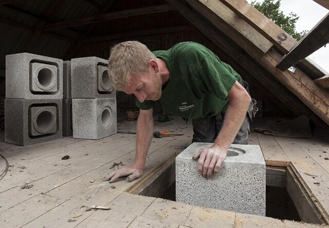 Skorsten efter byggeklodsprincippet