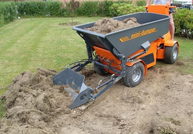 Dansk 4×4 mini-dumper laster 1.600 kg