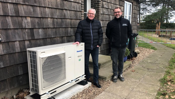 Luft til vand varmepumpe fra Nærvarme Danmark
