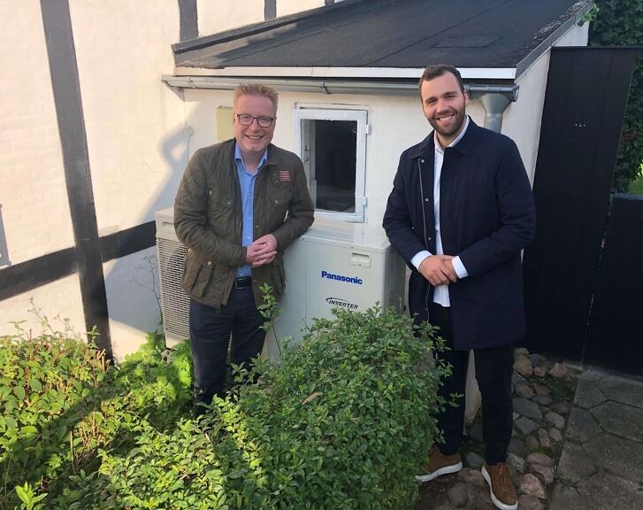 Folketingsmedlem, Bjørn Brandenborg er nysgerrig på varmepumper