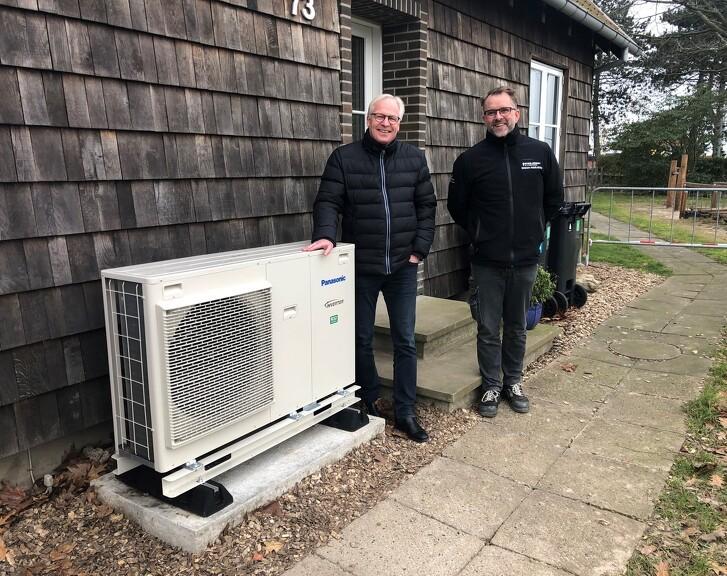 Oplev en varmepumpe i funktion fra Nærvarme Danmark hos GO2Green i Svendborg