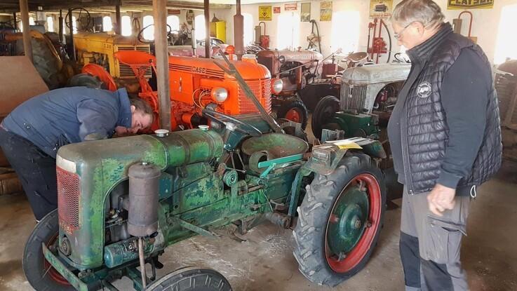 Lille og sjælden veterantraktor