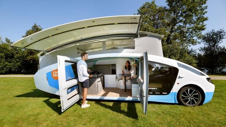Autocamper kørte 2.000 kilometer gennem Europa på ren solenergi