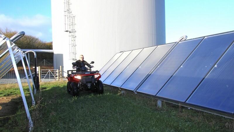 ATV passer på solfangerne